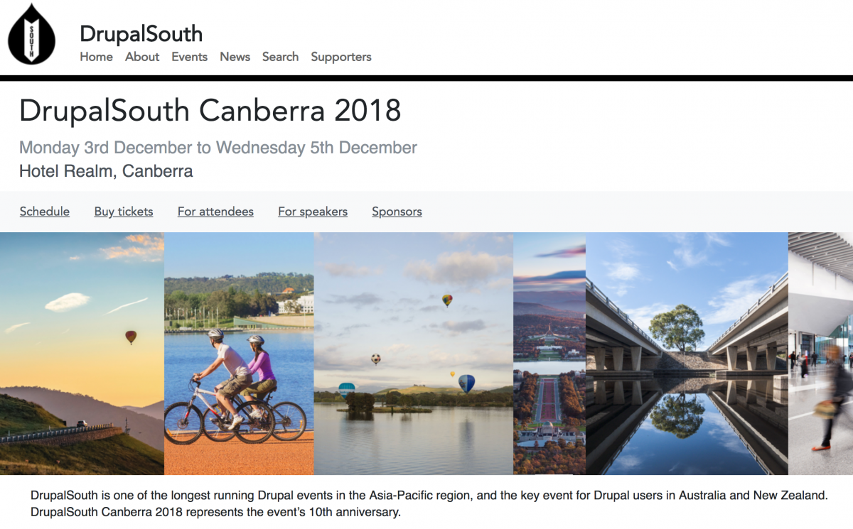 Speaking at DrupalSouth Canberra 2018