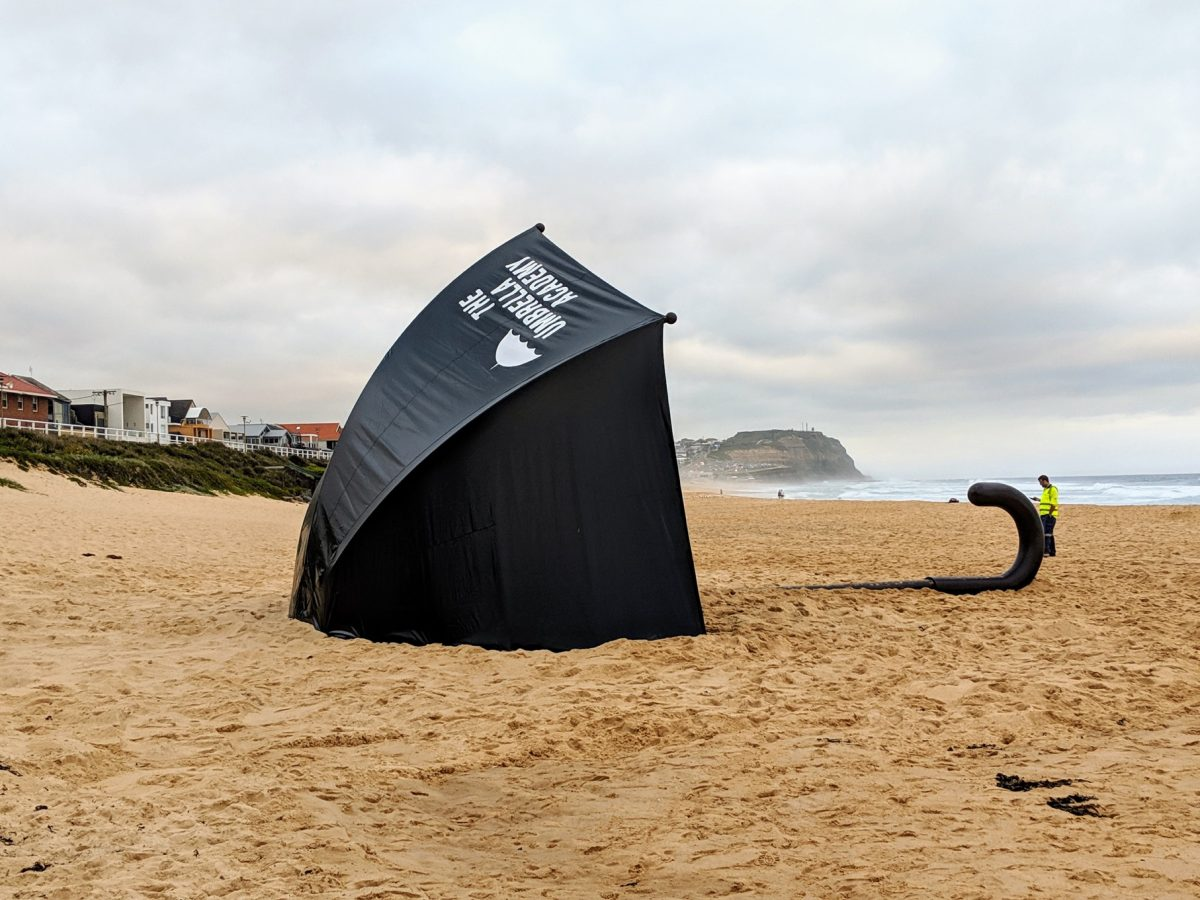 Giant Umbrella on Merewether Beach